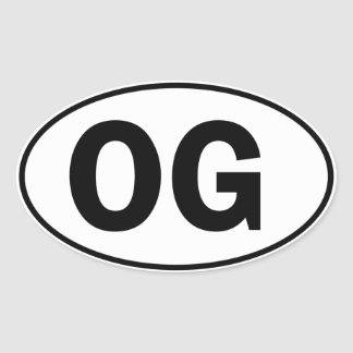 OG Oval Identity Sign Oval Sticker