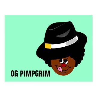 OG Pimpgrim Original Gangsta Pimp Pilgrim Postcard