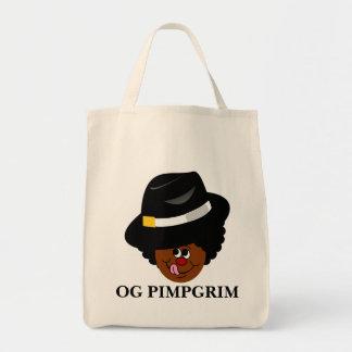 OG Pimpgrim: Original Gangsta Pimp Pilgrim Tote Bag