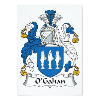 O'Gahan Family Crest 5x7 Paper Invitation Card