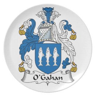 O'Gahan Family Crest Dinner Plates