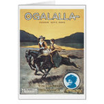 Ogalalla Indian Love Song Vintage Songbook Cover Card
