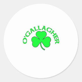 O'Gallagher Etiquetas Redondas