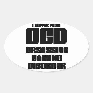 OGD - Obsessive Gaming Disorder Oval Sticker