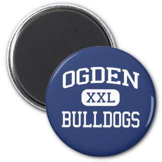 Ogden - Bulldogs - Ogden High School - Ogden Iowa Refrigerator Magnets