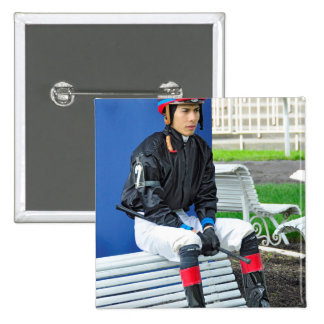 Ogden Phipps Stables - Jose Ortiz Pinback Button