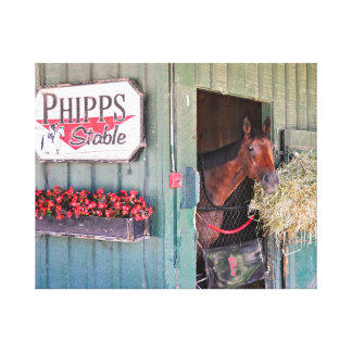 Ogden Phipps Stables with Scampering Canvas Print