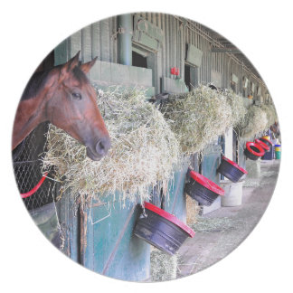 Ogden Phipps Stables with Scampering Dinner Plate