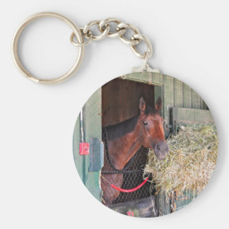 Ogden Phipps Stables with Scampering Key Chain