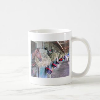 Ogden Phipps Stables with Scampering Coffee Mug