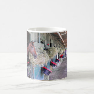 Ogden Phipps Stables with Scampering Coffee Mugs