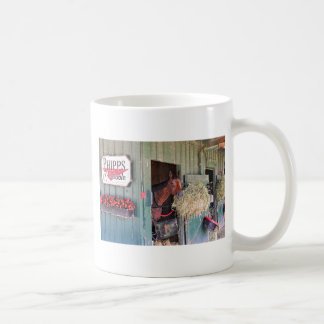 Ogden Phipps Stables with Scampering Mugs