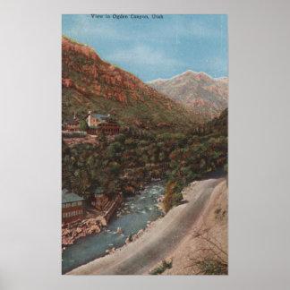 Ogden, Utah - Ogden Canyon View & River Poster