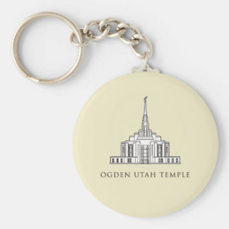 Ogden Utah Temple. keychain