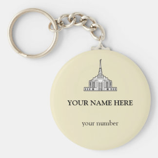 Ogden Utah Temple. LDS Temple bag tag. Keychain