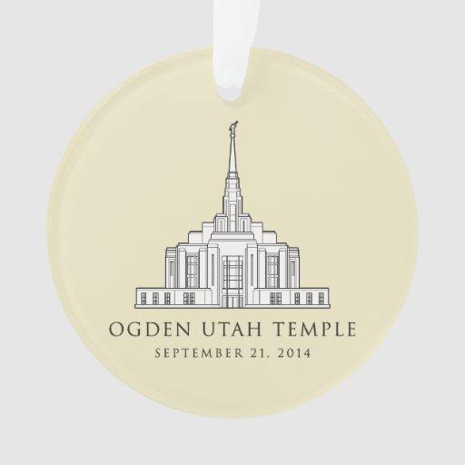 Ogden Utah Temple Sept 21 2014 Ornament Zazzle