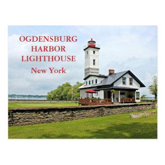 Ogdensburg Harbor Lighthouse, New York Postcard