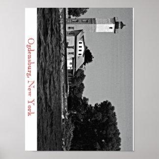 Ogdensburg New York Lighthouse Poster