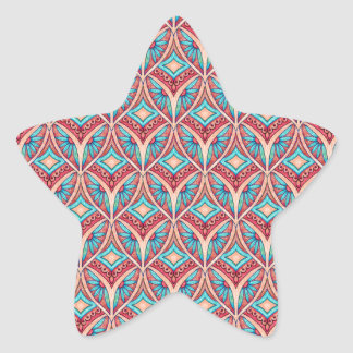Ogee floral pegatina en forma de estrella