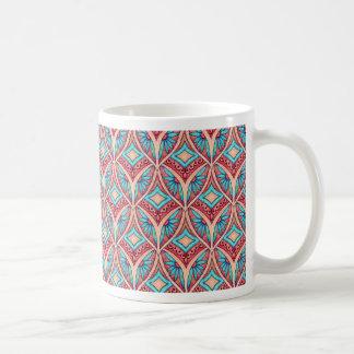 Ogee floral taza de café