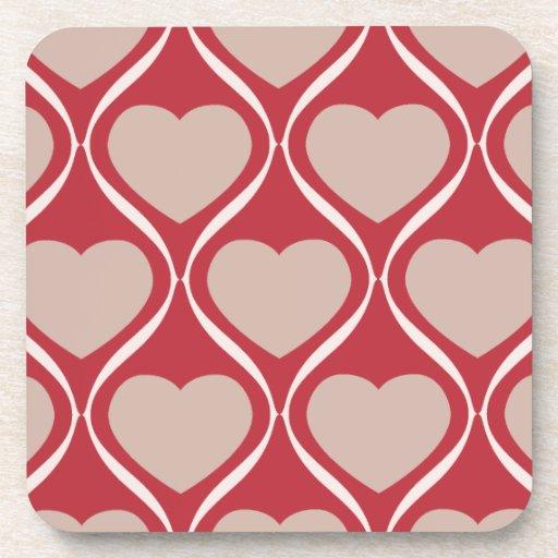 Ogee Heart MRB Drink Coasters