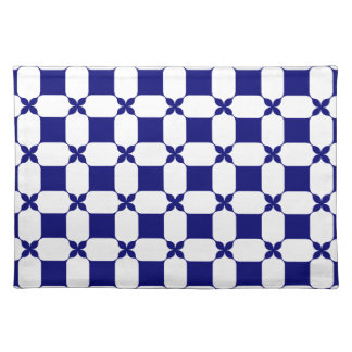 Ogee White & Navy.png Placemat