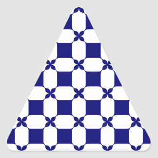 Ogee White & Navy.png Triangle Sticker