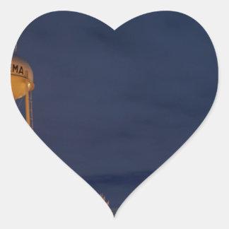 Ogema Sentinel at Night Heart Sticker