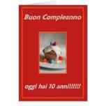 Oggi del anni del compleanno 10 de Buon Felicitación