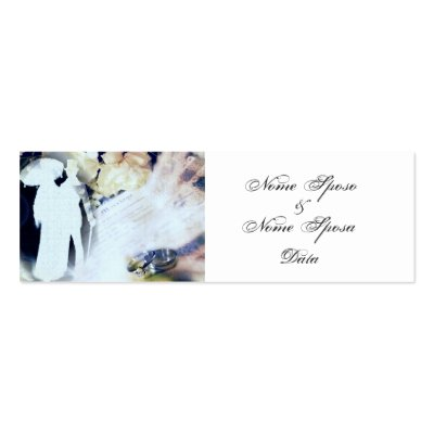 Oggi Sposi Italian Wedding Favor Business Card Template by elenaind