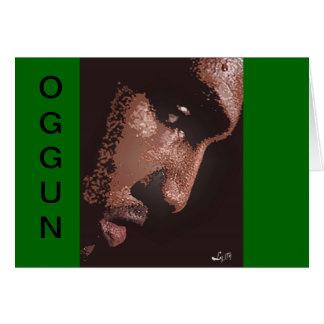 OGGUN'S SWEAT BY LIZ LOZ GREETING CARD