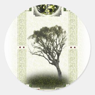 Ogham Runes - Luis Round Sticker