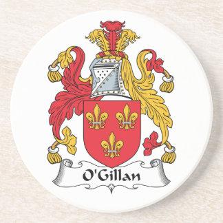 O'Gillan Family Crest Beverage Coasters