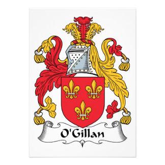 O'Gillan Family Crest Custom Invite