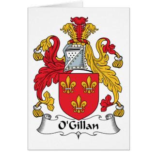 O'Gillan Family Crest Greeting Card