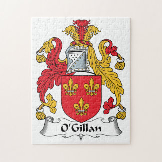 O'Gillan Family Crest Jigsaw Puzzle