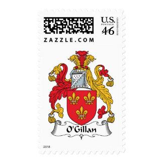O'Gillan Family Crest Postage Stamp