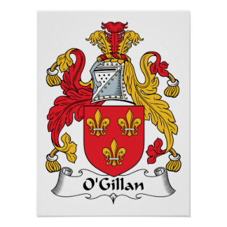 O'Gillan Family Crest Posters