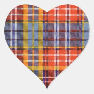 Ogilvie clan Plaid Scottish tartan Heart Sticker