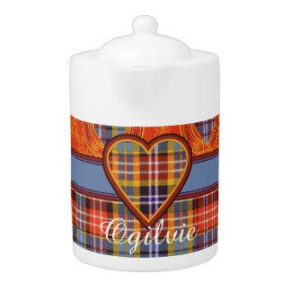 Ogilvie clan Plaid Scottish tartan Teapot