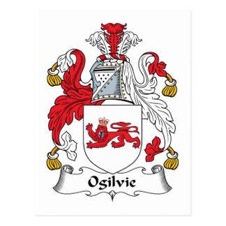 Ogilvie Family Crest Postcard