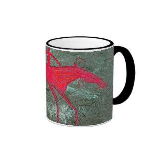 Oglakhty Horse Ringer Coffee Mug