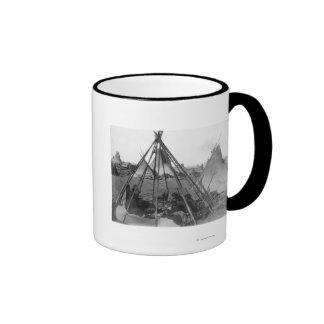 Oglala Women and Children inside Tipi Mug
