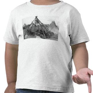 Oglala Women and Children inside Tipi Shirt