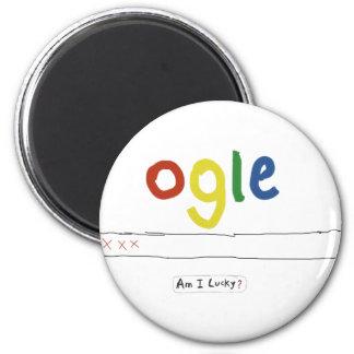 ogle_am i lucky refrigerator magnets