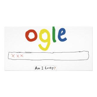 ogle_am i lucky customized photo card