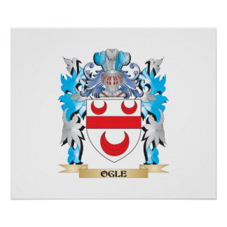 Ogle Coat of Arms - Family Crest Poster