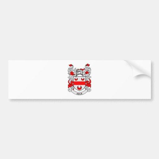 OGLE el escudo de armas Etiqueta De Parachoque