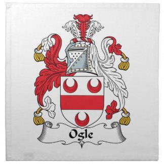 Ogle el escudo de la familia servilletas imprimidas