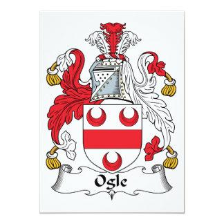 "Ogle Family Crest 5"" X 7"" Invitation Card"